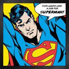 DC Comics De l'art encadré Superman (Looks Like A Job For)