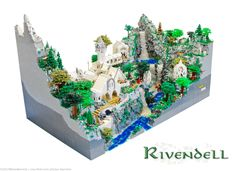 Rivendell de El Señor de los Anillos (The Lord of the Rings), ¡construida con Legos!