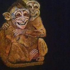 Fear grimace monkey