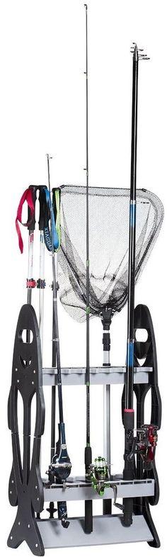 Wealers 16-rod Rack Fishing Rod Holder Organizer Bait Lures Fish Tackle, New #wealers