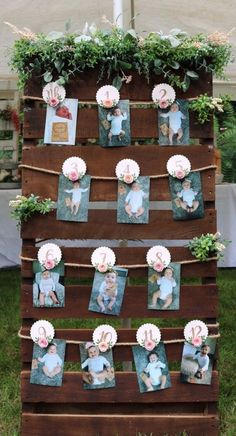 Birthday Picture Displays, Birthday Photo Banner, 1st Birthday Party For Girls, 1st Birthday Pictures, 12 Month Picture Display, Diy Birthday Decorations For Baby Girl, Ideas For 1st Birthday, 26 Birthday, Birthday Banners
