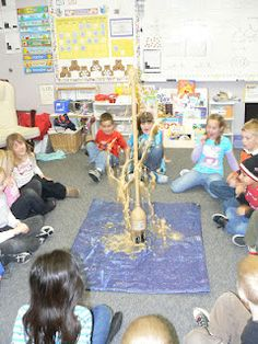 States of Matter:  mentos (solid) in diet coke (liquid) creates a gas