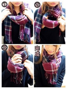 How To Wear A Blanket Scarf, Ways To Wear A Scarf, How To Wear Scarves, Look Fashion, Fashion Beauty, Winter Fashion, Fashion Outfits, Womens Fashion, Ways To Tie Scarves