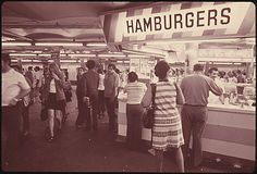 In the mid '70s, you could buy burgers in the 42nd St. subway station. Savory.