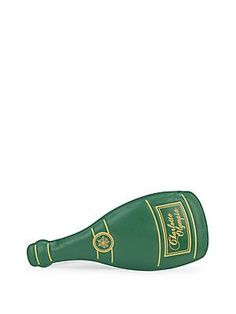 Charlotte Olympia Champagne Bottle Leather Wristlet - Green - Size No