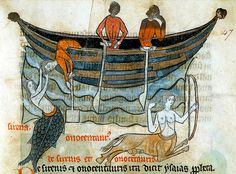 Sirens and sailors. France 13th cent, Sloane 278. BL by tony harrison, via Flickr