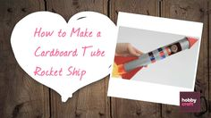 Why not create a little rocket for your little space people with this really simple and quick tutorial? All you need is a cardboard tube, paint and tissue pa. Hobbies And Crafts, Crafts For Kids, Arts And Crafts, Blog Categories, Craft Club, Cardboard Crafts, Stem Activities, All You Need Is, Tissue Paper