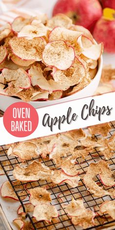 These simple oven baked apple chips are a healthy and delicious snack with no added sugar and seasoned with apple pie spice. This homemade recipe is great for gifting during the holidays or a fantastic way to preserve your apple harvest for months to come! #AppleChips #FoodGift #DehydratedApples Dehydrated Apples, Baked Apples, Pie And Chips, Apple Pie Spice, Apple Chips, Apple Harvest, Homemade Recipe, Breakfast Lunch Dinner, Oven Baked