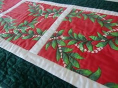 Hawaiian Christmas Quilted Table Runner by KoloaQuiltsandMore