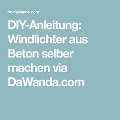 DIY-Anleitung: Windlichter aus Beton selber machen via DaWanda.com