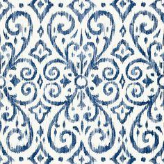 Patara ikat - navy wallpaper caravan thibaut in 2019 bathroo Accent Wallpaper, Navy Wallpaper, Kitchen Wallpaper, Blue Wallpapers, Fabric Wallpaper, Beautiful Wallpaper, Wallpaper Samples, Ikat Pattern, Textile Patterns
