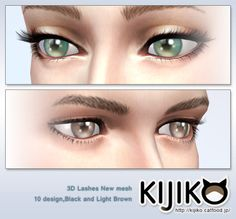 kijiko-sims: 3D Lashes Curly Edition