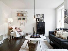 Scandinavian interior design ideas 17. Black and white living room