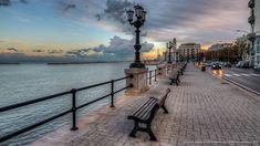 Lungomare di Bari - Puglia Bari, Cn Tower, Sidewalk, Scene, Building, Places, Travel, Italy, Lugares
