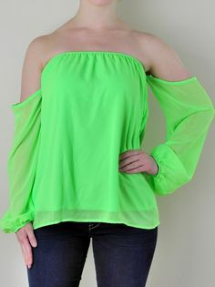 Neon Green Off the Shoulder Top - $35.99 : FashionCupcake, Designer Clothing, Accessories, and Gifts