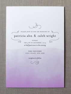 Watercolor Wedding Invitations by Fine Day Press via Oh So Beautiful Paper (2)