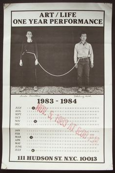Artists' Books and Multiples: Linda Montano & Tehching Hsieh | Rope