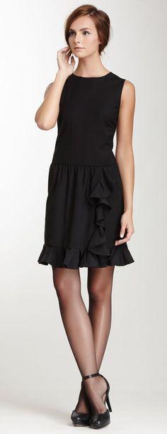 RED Valentino Sleeveless Cascade Ruffle Dress