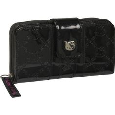 Loungefly Hello Kitty Black Patent Embossed Wallet $31.99