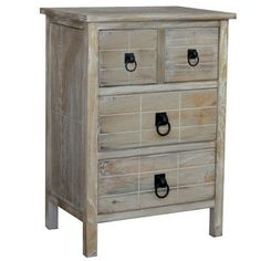Gallerie Decor Driftwood 4 Drawer Chest