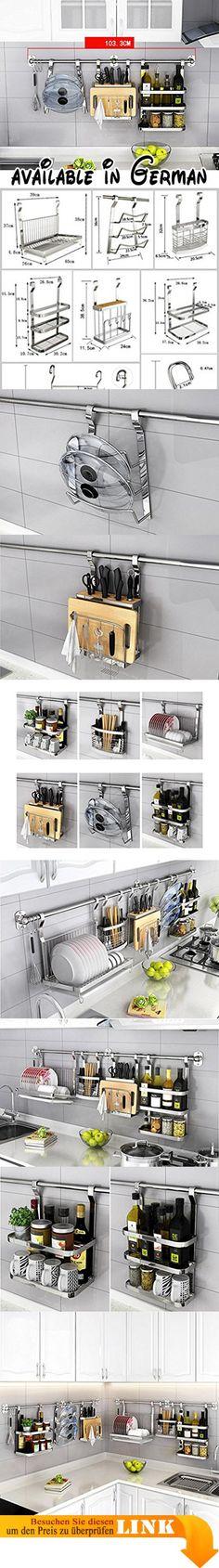 B0775V4VLT  WENZHE Küchenregal Küche Wandregal Ablage Regal - gewürzregale für küchenschränke