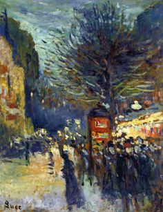 "Maximilien Luce _ ""Street in Paris"""