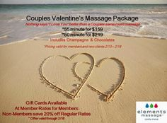 Share the Love This Valentine's Day with a Couple's Massage Special at Elements Massage | @CostaMesaETM