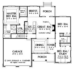 Home and Apartment, Nice Color Four Bedroom Three Bath House Plans ...