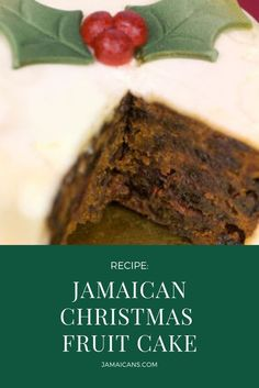 A Jamaican Christmas celebration is not complete without Jamaican Christmas Fruit cake. Also known as Black Cake or Christmas Cake. Dark Fruit Cake Recipe, Vegan Fruit Cake, Chocolate Fruit Cake, Fresh Fruit Cake, Fruit Cakes, Recipe For Jamaican Fruit Cake, Caribbean Fruit Cake Recipe, Fruit Birthday Cake, Fruit Wedding Cake