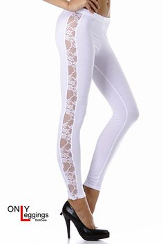 Floral Side Lace Leggings - $18.00