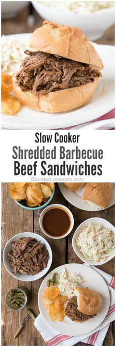 Slow Cooker Shredded Barbecue Beef Sandwiches   Boulder Locavore