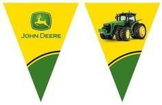 Party Destination Mens John Deere Tractor - Flag Banner
