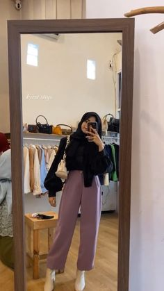 Modern Hijab Fashion, Modesty Fashion, Hijab Fashion Inspiration, Kpop Fashion Outfits, Muslim Fashion, Hijab Fashionista, Casual Hijab Outfit, Mein Style, Mode Hijab