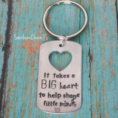 It takes a big heart to help shape little minds by SouthernCharmJS, $18.00