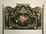 (headboard) 1STDIBS.COM - Antiques on Old Plank Road - c.1880 French Napoleon III Style Bed w/ Mother-of-Pearl Inlay