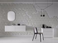 Bathroom furniture set Fluent Collection by INBANI design Arik Levy