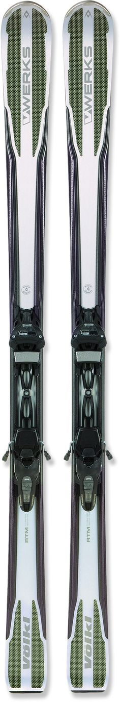 Representing the lightweight pinnacle of ski tech, the Völkl RTM V-Werks skis with bindings fly down groomed runs and conquer soft snow thanks to cutting-edge construction and mellow rocker. Ski Bindings, Snowboard, Skiing, King, Ski