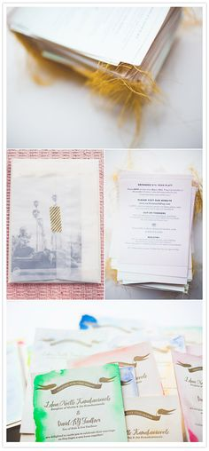 Watercolor Invites and Vellum Envelopes