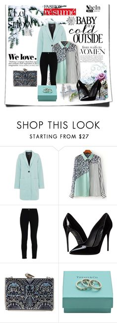 """In love with turquoise color"" by zina1002 ❤ liked on Polyvore featuring mode, Armani Jeans, STELLA McCARTNEY, Dolce&Gabbana, KOTUR, Tiffany & Co., Effy Jewelry et Zara"