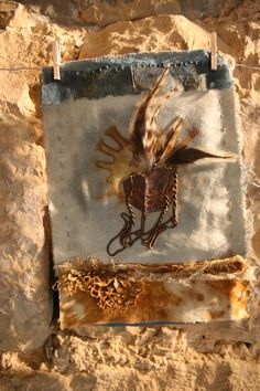 Natalie Magnin - Zamirte Textiles - Textile and Fiber Art: Indigo, Rust, Coffee and Feathers Indigo, Textiles Sketchbook, Art Textile, Find Objects, Printed Linen, How To Dye Fabric, Rag And Bone, Fiber Art, Crafts