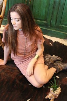 Desert Suede Dress, BOHO, bohemian style, modern boho, Wild West style,
