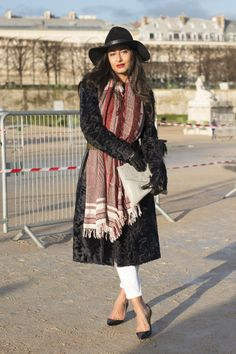 Nausheen Shah made a statement in her wide-brimmed hat and luxe overcoat.