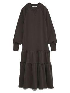 ティアードスウェットワンピース(ワンピース)|ワンピース|FURFUR(ファーファー)公式サイト/オフィシャル通販サイト All Black, Kawaii, Spring, Outfits, Clothes, Style, Fashion, Vestidos, Japanese Clothing