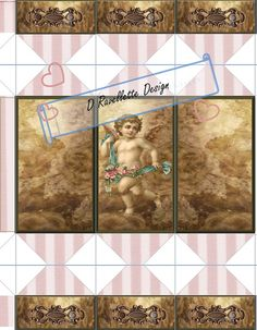 Printable JPEG Christmas Cracker.  Pink Cherub by SimplyDRave, $3.00