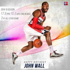 Join us in wishing two-time NBA All-Star @johnwall a Happy Birthday!