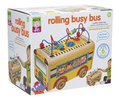 Alex Toys Alex Jr. Rolling Busy Bus -Baby Wooden Developmental Toy  1997 Alex Toys http://www.amazon.com/dp/B00BDMN6Q4/ref=cm_sw_r_pi_dp_LQDgub1VE8BE4