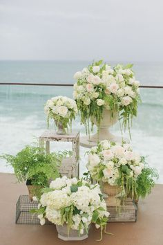 """Seaside sweetness. #summerwedding Photography: onelove photography - www.onelove-photo.com/  View entire slideshow: Our Favorite Summer Locales for Saying """"I Do"""": http://www.stylemepretty.com/2014/07/10/335177/ #weddingflowers"""