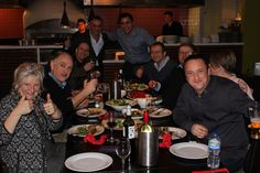 Pheonix Nights cast enjoying a night out at PaPa G's in The Printworks
