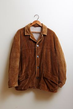 pretty nice b4689 b1447 1950s Brown Corduroy Button Up Bomber Jacket with Plastic Buttons by  SoftServeVintage on Etsy (null