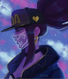 Lol League Of Legends, League Of Legends Kindred, Akali League Of Legends, League Of Legends Characters, Ahri League, Girls Anime, Kawaii Anime Girl, Pretty Art, Cute Art